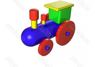 Steam locomotive train a toy 3D