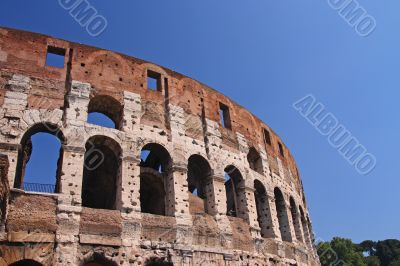 the arches of the colosseum