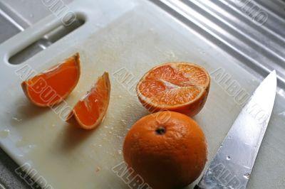 Cut oranges