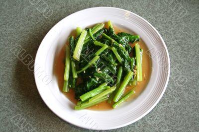 Fried asian vegetables