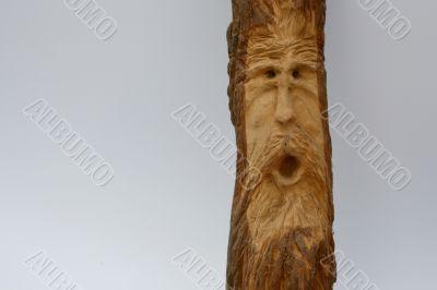 wood carved wood spirit