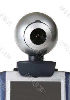 Closeup of a webcam