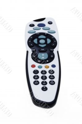 TV and other device remote control on white