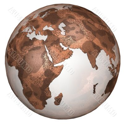 Textured Red Planet Earth East