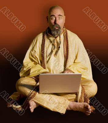 Funny Gurru on laptop Computer
