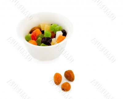 Dried fruits and almond nuts