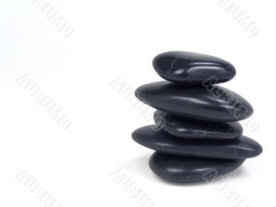 Balancing stones with clipping path