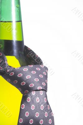 Beer Bottle with Necktie