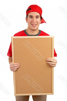 Behind the empty corkboard