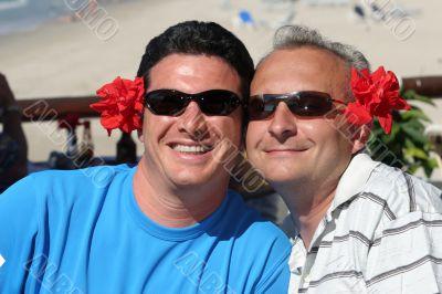 Happy men couple