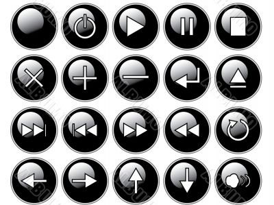 Glossy Black Buttons