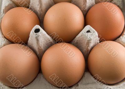 brown egg carton