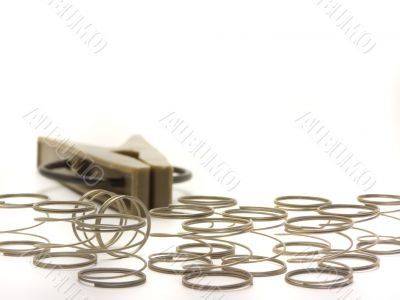 Clip with springs