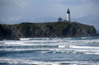 Misty day, Yaquina Head Lighthouse