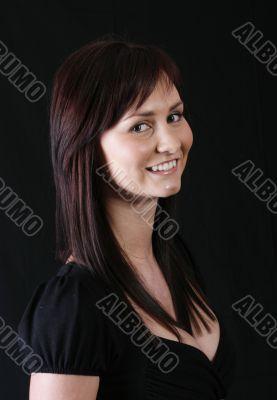 Elegant girl in black