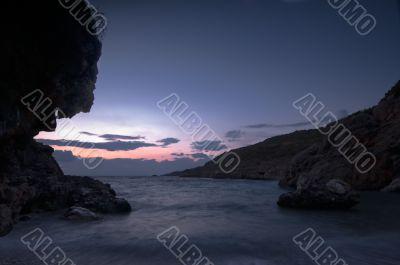 Dusky seascape