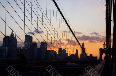 silhouette, sky, architecture and urban scene