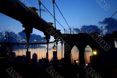 new york city at night. United States