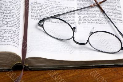 Glasses on Bible 2