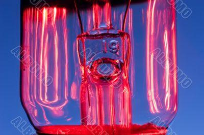 lightbulb stem extreme closeup