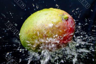 mango and water splash