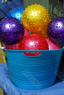 Toy Colored Balls Assorted in Bucket