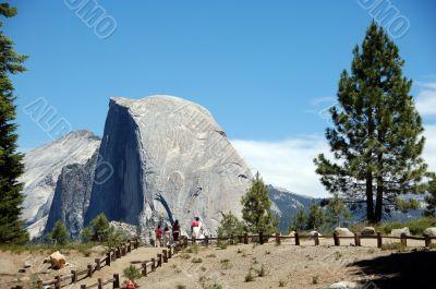 Half Dome at Glacier Point Yosemite