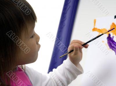 Child Painting 2
