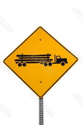 Logging truck sign