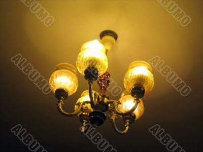 retro-styled lamp, light