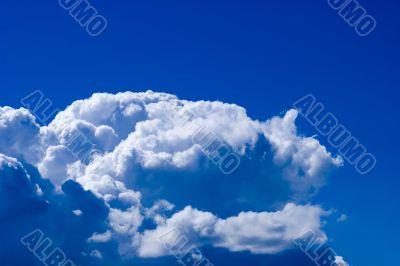 Beautiful cloudscape in light blue skyes
