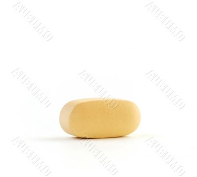 Vitamin Against a Pure White Background