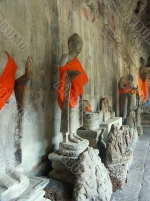 budda statues Cambodia temples - angkor wat