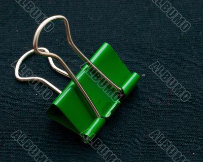 green binder clip