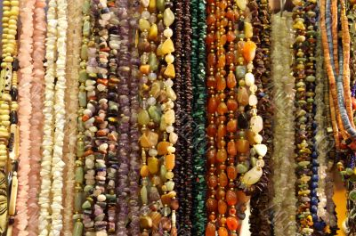 bead with stones and amber