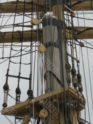a mast of sailing ship