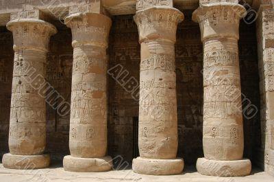 Egyptian pillars