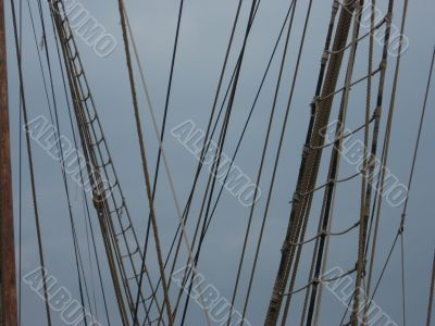 a rigging of sailing ship