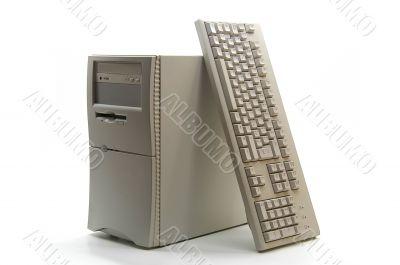 Mini-tower PC and keyboard