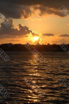 Sunset at Key West islands