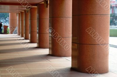 Perspective view of walkway