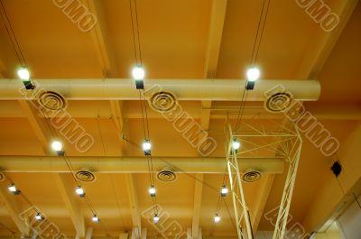 Architecture of stadium ceiling
