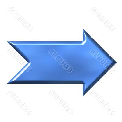 3D Azure Arrow