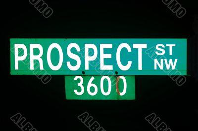 Prospect avenue sign