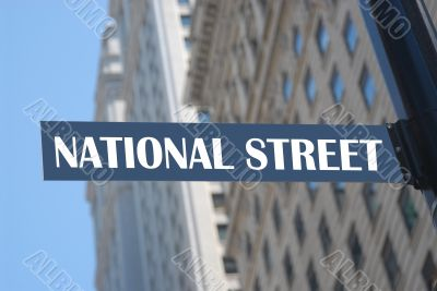 National street sign