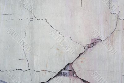 Background.Cracked concrete wall