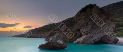 Panoramic Greek seascape
