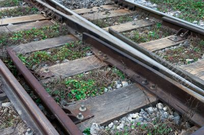 Neglected railway tracks