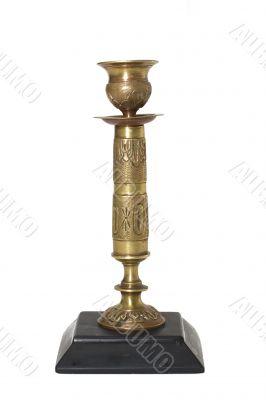 Bronze candlestick isolated