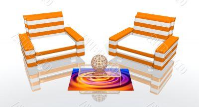 The orange lounge